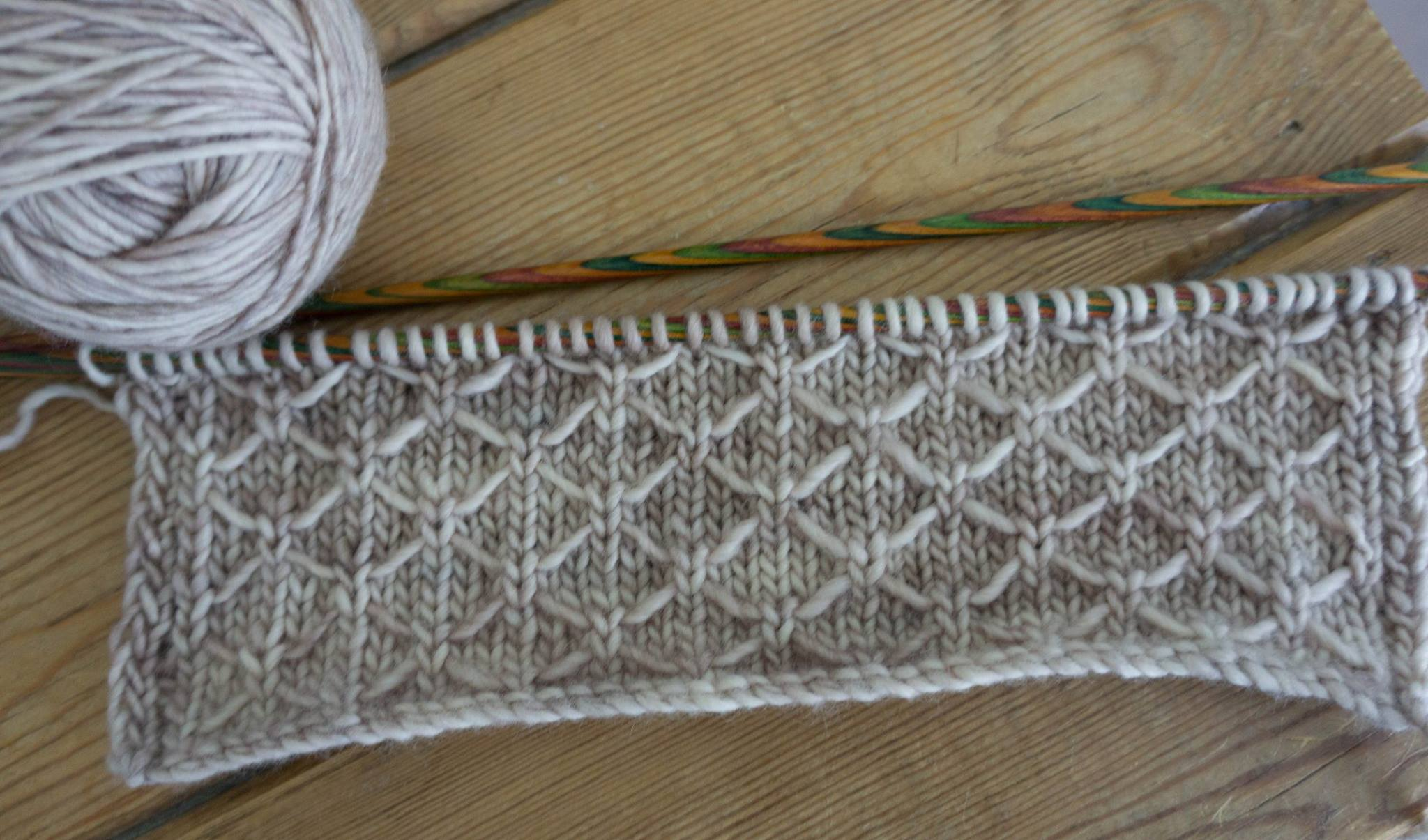 Knitting Quilted Lattice Stitch : Around the world blog hop! The Crimson Rabbit